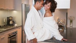 Black Couple Morning Loving